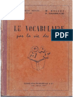 Le vocabulaire par la vie des mots, de M. Ballot et P. Fougerouse