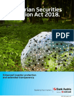 MIFID The Austrian Securities Supervision Act 2018