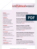 Economic and Political Weekly Vol. 47, No. 10, MARCH 10, 2012