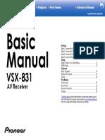 VSX-831 Advanced Manual En