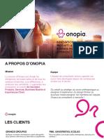 Onopia - Démarche accompagnement et outils + process
