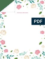 (General Letter) Freshy Rose Letter