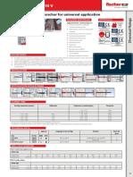 Fischer Technical data