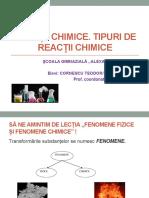 Reactii Chimice.tipuri de Reactii Cornescu Staniloiu Sc a.stefulescu