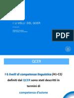 i Livelli Del Qcer e Valutazione Prova Orale 2