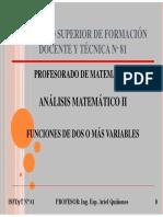 01 - Funciones de Dos o Más Variables