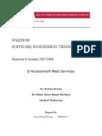 Project - E-Assessment Web Services