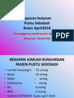 Laporan Bulanan Pustu Sidodadi Bulan April 2018