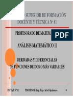 02 - Derivadas y Diferenciales de Funciones de Dos o Más Variables