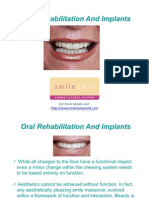 Oral Rehabilitation and Implants
