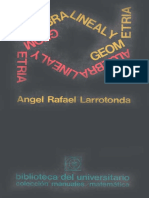 Álgebra Lineal y Geometría - Angel Rafael Larrotonda