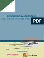 30 AÑOS DE MUERTES EN EL ESTRECHO. Informe de Por Causa y Andalucía Acoge.