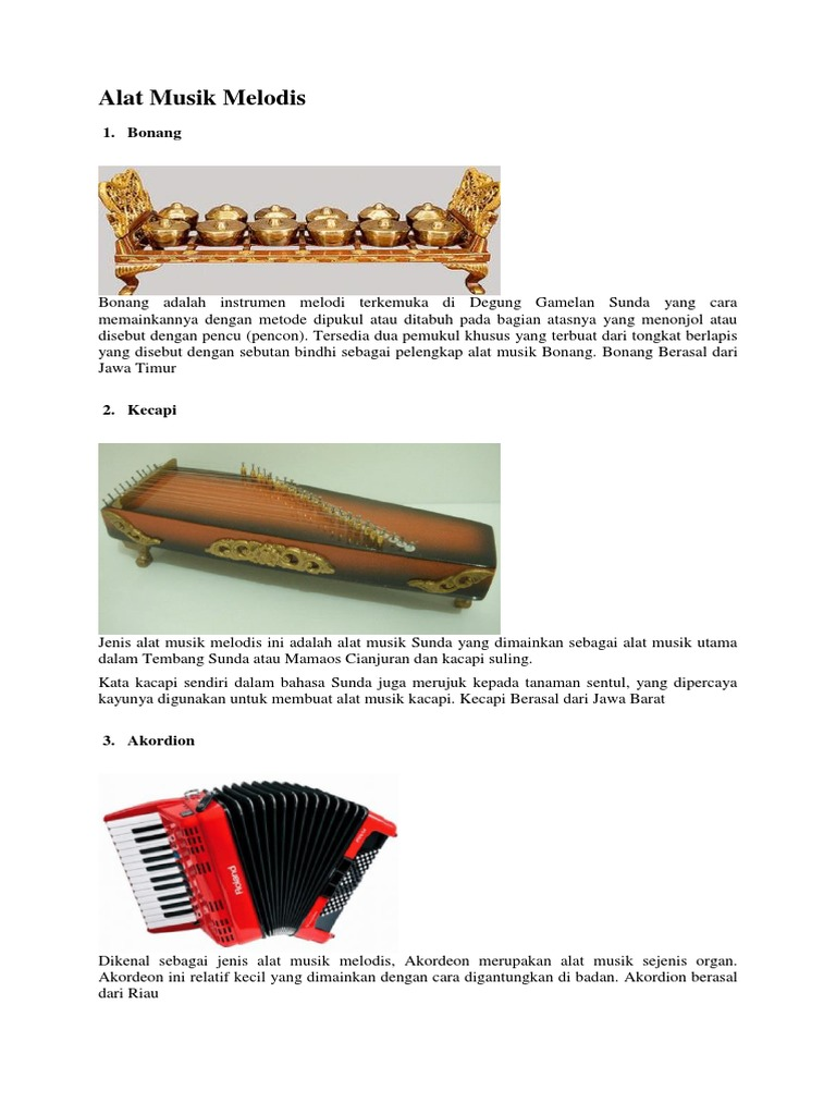 Alat Musik Melodis Dan Harmonis