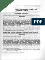 Germán Raúl Gómez Palacio'; Termodinámica de Ecosistemas, Una Aproximación