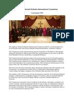 Anglican-Ortodhox Communique 2018