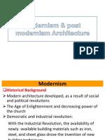 Modernism & Post Modernism Architecture