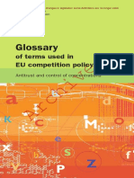 European Commission Glossary of Terms Used in Eu Competition Policy - Antitrust and Control of Concentrations