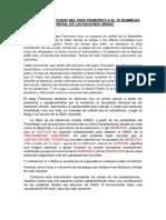 ANALISIS DEL DISCURSO DEL PAPA FRANCISCO A AL 70 ASAMBLEA GENERAL DE LAS NACIONES UNIDAS