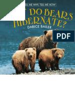 Why Do Bears Hibernate