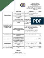 Action Plan Grade Level Coordinatorship