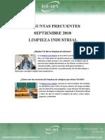 Preguntas Frecuentes Septiembre 18 - Limpieza Industrial
