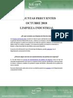 Preguntas Frecuentes Octubre 18 - Limpieza Industrial
