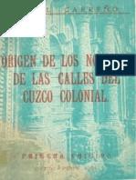 Angel Carreño - Las Calles Del Cusco