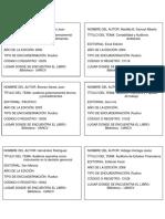 Fichas Bibliograficas - Biblioteca Uancv