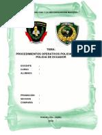Procedimientos Operativos Policiales de La Policia de Ecuador