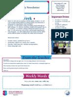 weekly newsletter nov 6