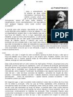 Marx e o Capitalismo