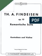 Findeisen - Romantische Suite Per Violino e Contrabbasso