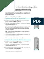 Tutorial Excel Variance Sample