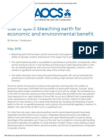 [RRL_2] Use of Spent Bleaching Earth for Economic and Environmental Benefit