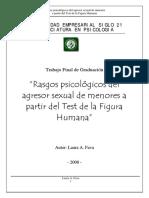 Rasgos psicológicos del agresor sexual de menores a partir del Test dela Figura Humana