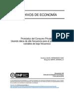 Costo de Uso Del Capital en Colombia-1997 -2003