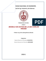 Modelo de Datos Colegio
