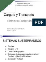 Carguío y Transporte 4 Slusher LHD Tren STGrav