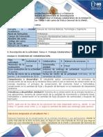 Guía de Actividades y Rubrica de Evaluación-Tarea 4