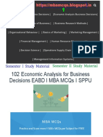 Economic Analysis for Business Decisions MCQs | Economics MCQs
