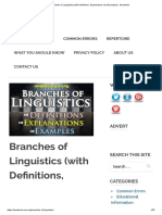 Branches of Linguistics (With Definitions, Explanations and Examples) - Akademia