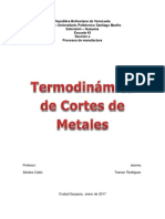 Termodinámica de cortes de metales