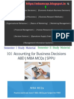 Accounting for Business Decisions MCQs | Accounting MCQs