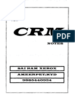 CRM Function Training Course Hand Written