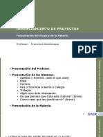 GdP Unidad I Introduccin Al Gerenciamiento de Proyectos 2018 V