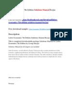 Labor Economics 7th Edition Solutions Manual Borjas