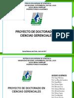 Presentacion Propuesta Doctoral Ciencias Gerenciales Unesur 2017 - c.u.