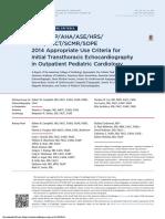 ApropriateUseEchocardiographyinPediatricCardiology.JACC.2014