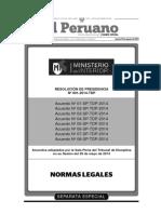 Acuerdos de Sala Plena Tribunal de Disciplina Policial  2014 - MINISTERIO DEL INTERIOR