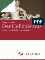 Der Hellenismus Kultur Und Geistesgeschichte